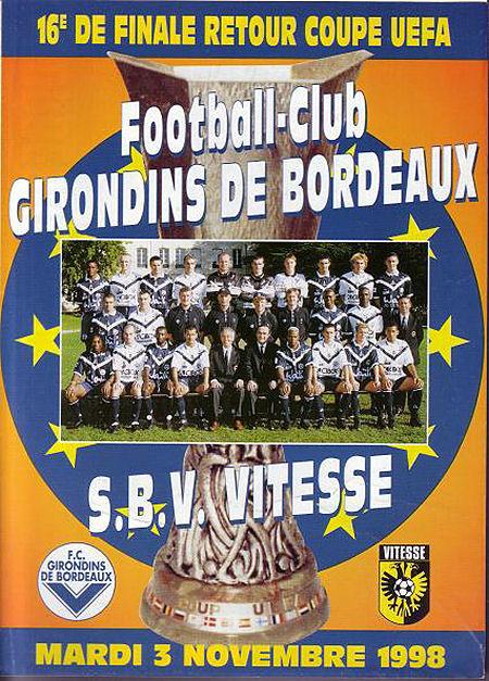 Bordeaux – Vitesse 2de ronde Europacup (2-1)