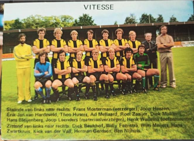 Elftal Foto Vitesse Jaren '70